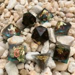 Sunken Treasure Resin Dice Set