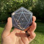 Geometric D20 Mirror Sticker